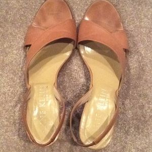 Anne Klein, tan leather heels, 9m